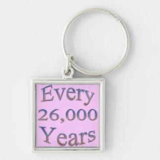 Cada 26000 Yearsfade Llavero Cuadrado Plateado