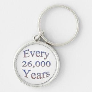 Cada 26000 Yearsfade Llavero Redondo Plateado