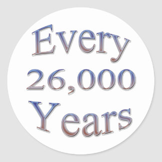 Cada 26000 Yearsfade Pegatina Redonda