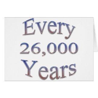 Cada 26000 Yearsfade Tarjeta De Felicitación