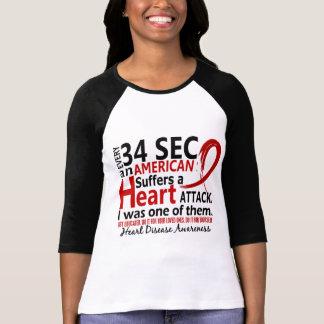 Cada 34 segundo me enfermedad cardíaca/ataque remera