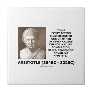Cada acción debe la deuda una siete causas Aristót Teja Cerámica