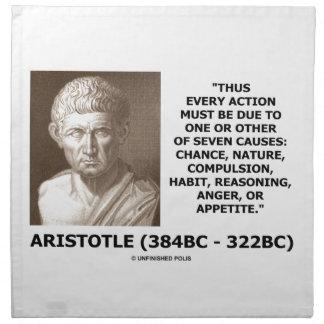 Cada acción debe la deuda una siete causas Aristót Servilletas De Papel
