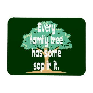 Cada árbol de familia tiene un poco de savia en él imanes de vinilo