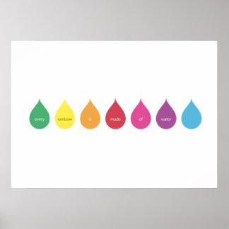 Cada arco iris se hace del agua - descensos poster