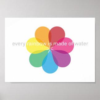 Cada arco iris se hace del agua - poster