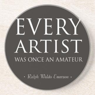 Cada artista era una vez un aficionado posavaso para bebida