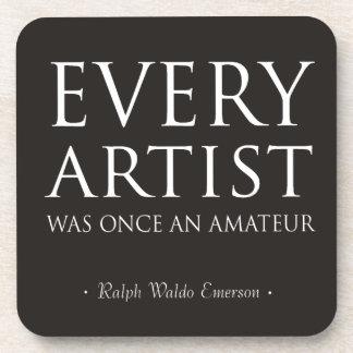 Cada artista era una vez un aficionado posavaso