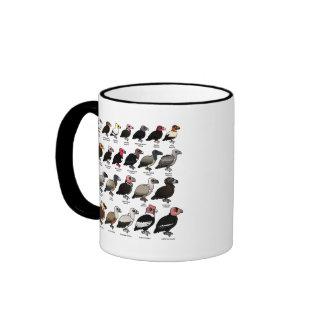 Cada buitre taza de dos colores