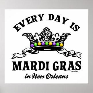 Cada carnaval del día en New Orleans Impresiones