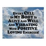 Cada célula en mis Multi-Productos del cuerpo Tarjetas Postales
