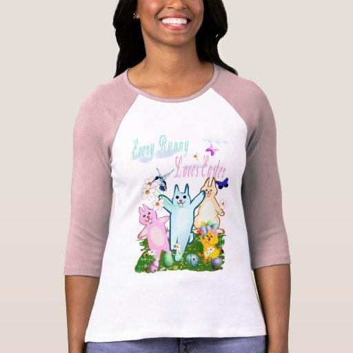 Cada conejito ama la camiseta de Pascua