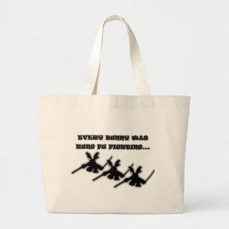 Cada conejito era fu del kung que luchaba… bolsa de mano
