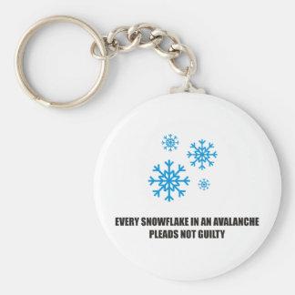 Cada copo de nieve en una avalancha aboga por no c llavero