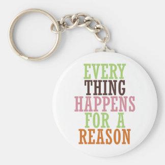 Cada cosa sucede por una razón llaveros