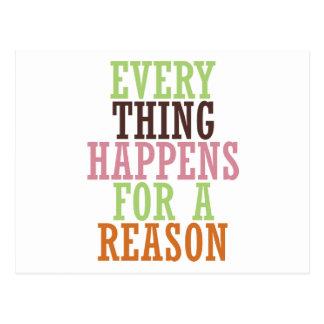 Cada cosa sucede por una razón postales