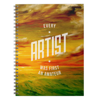 Cada cuaderno inspirado de la foto del artista