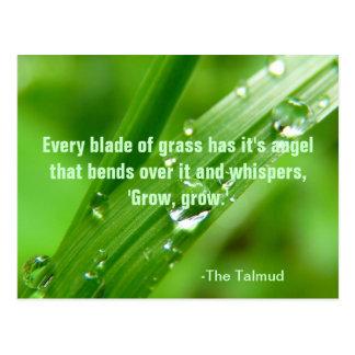 Cada cuchilla de la postal de la cita de la hierba