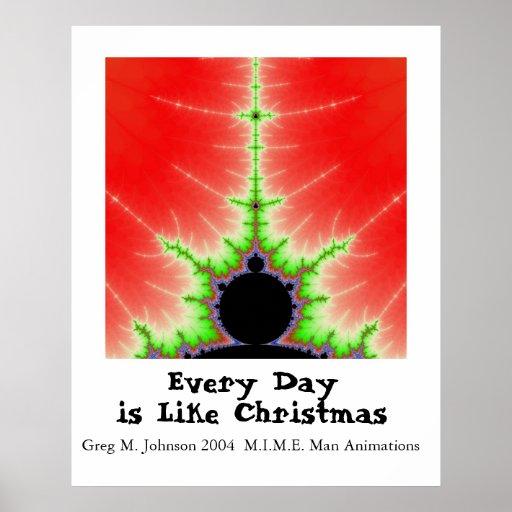 Cada día es como navidad póster