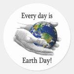Cada día es Día de la Tierra Etiqueta