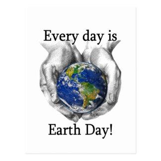 Cada día es Día de la Tierra Tarjetas Postales