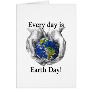 Cada día es Día de la Tierra Tarjeton