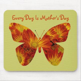 Cada día es el día de madre, mariposa de la margar tapetes de ratón