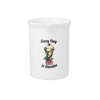 Cada día es helado jarras de beber
