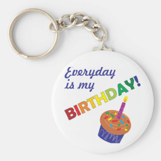 ¡Cada día es mi cumpleaños Llaveros