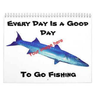 Cada día es un buen día a ir a pescar calendario