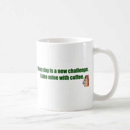 Cada día es un desafío tazas