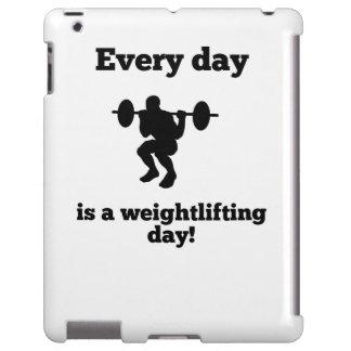 Cada día es un día del levantamiento de pesas funda para iPad