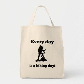Cada día es un día que camina bolsa tela para la compra