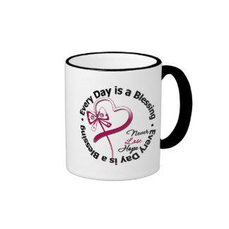 Cada día es una bendición - cáncer de cabeza y cue tazas de café