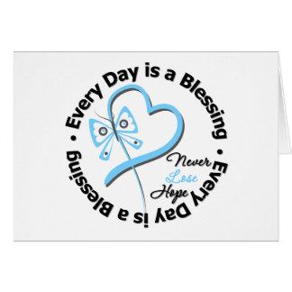 Cada día es una bendición - espere al cáncer de tarjeta de felicitación