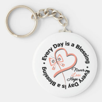 Cada día es una bendición - espere al cáncer uteri llaveros personalizados