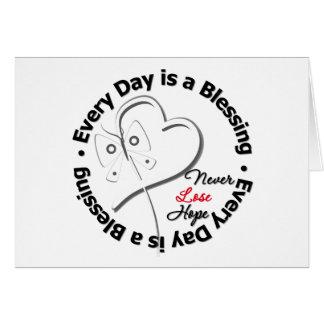 Cada día es una bendición - espere Retinoblastoma Felicitaciones