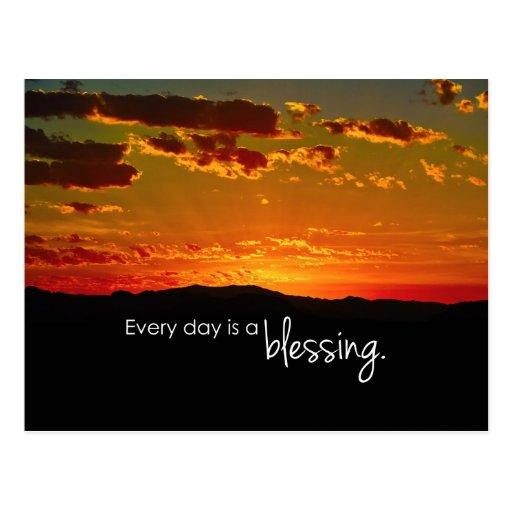Cada día es una bendición tarjetas postales