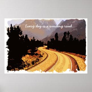 Cada día es una carretera con curvas… Poster