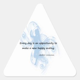 Cada día es una oportunidad pegatina triangular