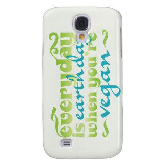 Cada día es vegano del Día de la Tierra Funda Samsung S4