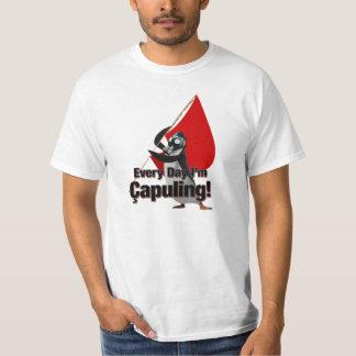 """""""Cada día soy Çapuling!"""" Camiseta Poleras"""