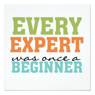 """Cada experto era una vez un principiante invitación 5.25"""" x 5.25"""""""