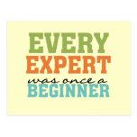 Cada experto era una vez un principiante postal