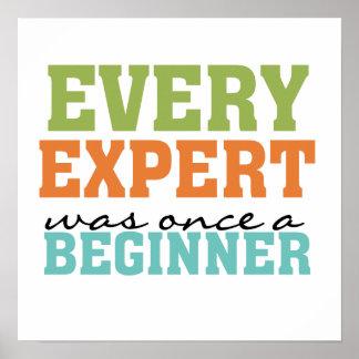 Cada experto era una vez un principiante póster