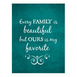 Cada familia es cita hermosa postales
