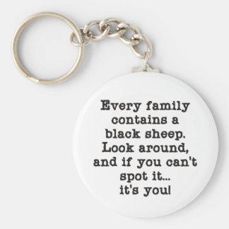Cada familia tiene ovejas negras llavero redondo tipo pin