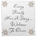 Cada familia tiene… servilleta de papel