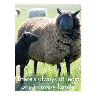 Cada familia tiene una oveja negra postal