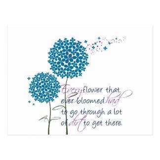 Cada flor que floreció nunca… postales